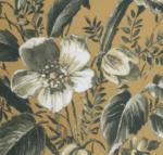Blumenmuster (senfgelb)